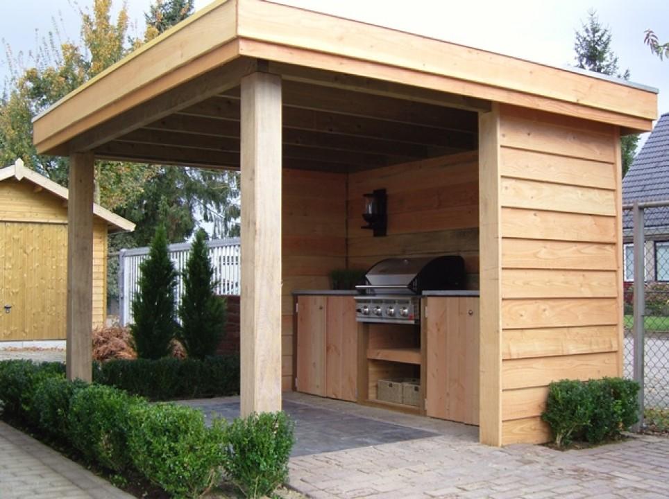 Houten Buiten Keuken : Houten buiten keuken classic buitenkeuken tuintuin eigen huis en