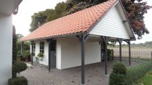 Houten garage Loire (9 x 6 meter)