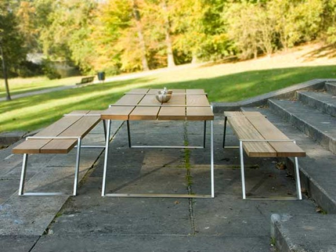 Bridge eetset (Moderne eetset voor in de tuin)