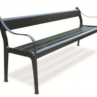 Klassieke tuinbank Ikaros, bank 120 cm, klassiek groen (Aluminium, Merk Gardeluxe)