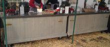 Mobiele bar (Stoere houten bar op wielen)