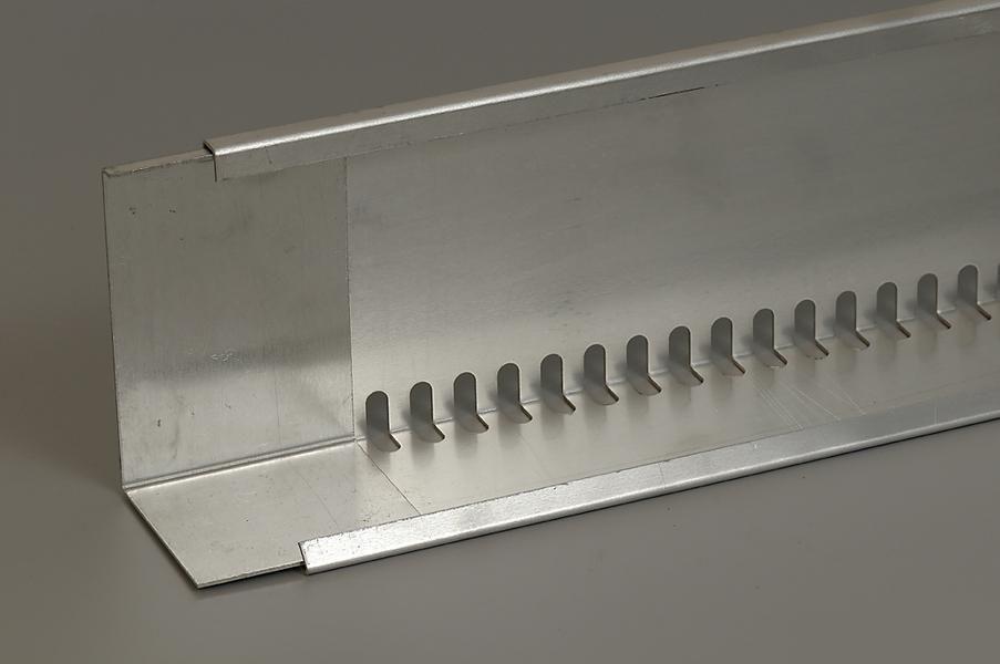 Geperforeerd aluminium randprofiel (80 x 120 mm x 240 cm) Easy Groendak Systeem
