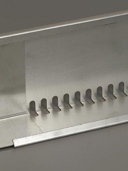Geperforeerd aluminium randprofiel (80 x 120 mm x 240 cm) Simplex Groendak Systeem