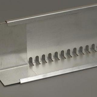 Geperforeerd aluminium randprofiel (80 x 120 mm x 240 cm) Techno Groendak Systeem
