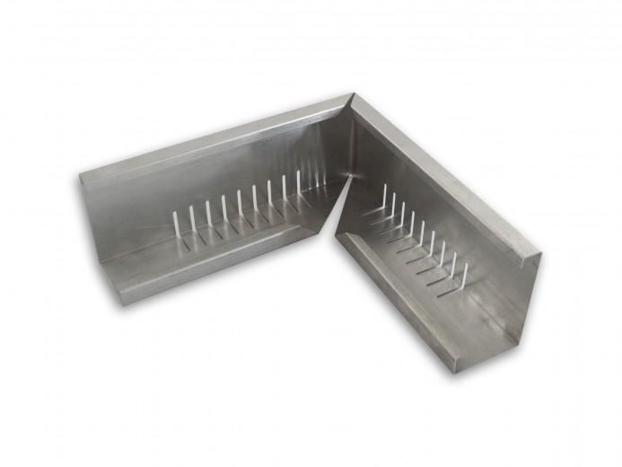Geperforeerd aluminium randprofiel (hoekstuk 12x8x120 cm) Extenso Groendak Systeem