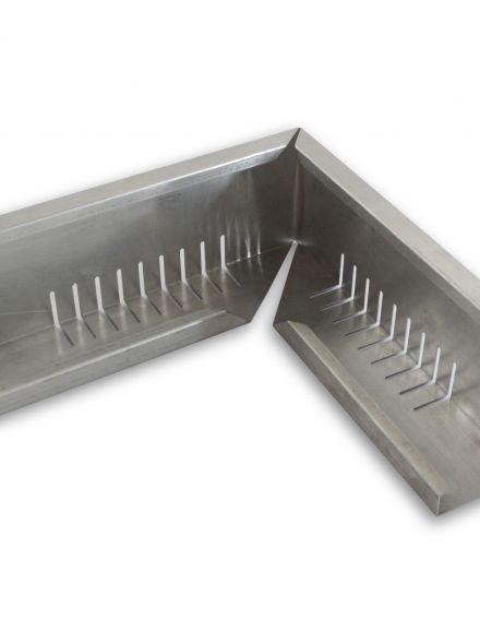 Geperforeerd aluminium randprofiel (hoekstuk 12x8x120 cm)