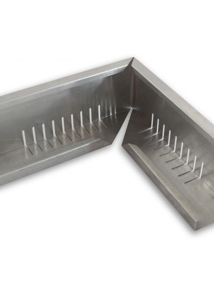 Geperforeerd aluminium randprofiel (hoekstuk 12x8x120 cm) Techno Groendak Systeem