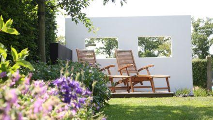 Lichtgewicht tuinmuur - Lichtgewicht tuinmuren - Lichtgewicht loungeblok - Gestucte tuinmuur - Kant en klaar tuinmuur - Platoflex