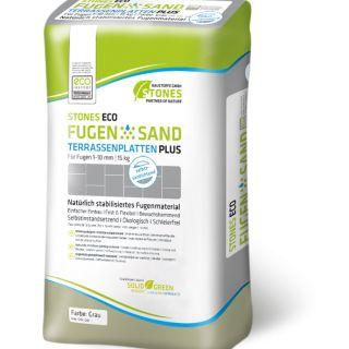FugenSand Terrastegel Plus Grau (Voegzand voor tegels, grijs, 15 kg)
