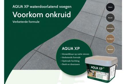 Aqua XP Zwart (waterdoorlatende voegen, 12,5 kg, zwart voegzand)