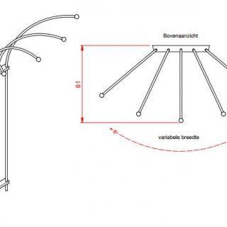 Metalen klimplantenrek Clematis art. C415