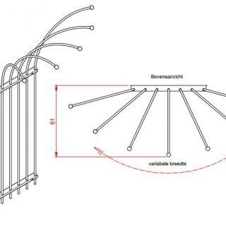 Metalen klimplantenrek Clematis art. C427