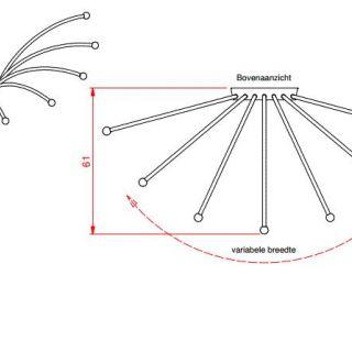 Metalen klimplantenrek Kamperfoelie art. KF327