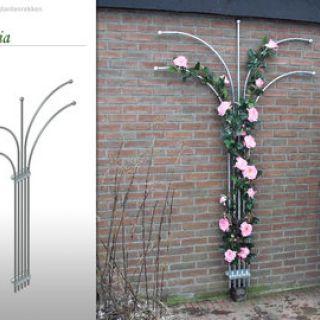 Metalen klimplantenrek Fleur (Vlakke vorm)