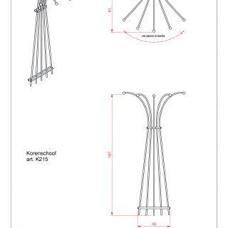 Metalen klimplantenrek Korenschoof art. K215