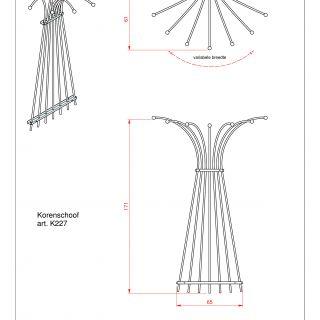 Metalen klimplantenrek Korenschoof art. K227