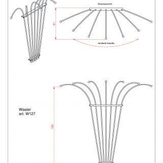 Metalen klimplantenrek Waaier art. W127