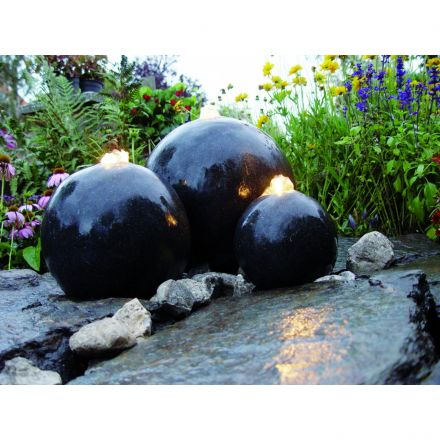 Waterornament Acqua Arte set London (Ubbink Garden, art. 1308265, waterbollen)