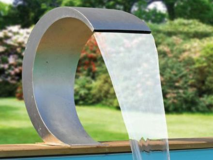 RVS design waterval Mamba waterval roestvrij staal 54x30x32cm (Ubbink Garden, art. 7504442)
