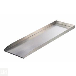 Wolga beekloop recht element roestvrij staal 4x30x98cm  (Ubbink Garden, art. 1312014)