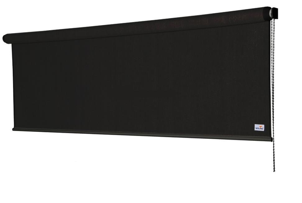 Rolgordijn breed 1,98 x 2,4 meter Zwart (Nesling)