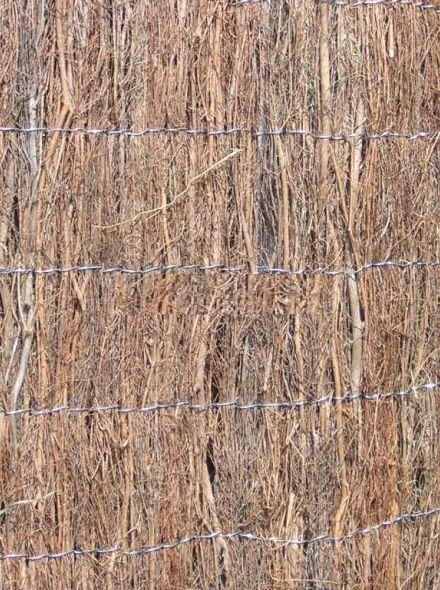 Heidemat pakket 2 meter hoog en 9 meter lang