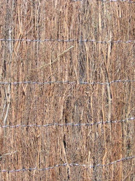 Heidemat pakket 2 meter hoog en 12 meter lang