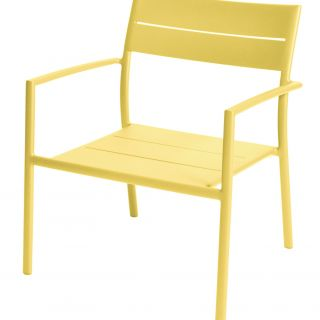 Grace stapelbare lage fauteuil (Kleur Geel)