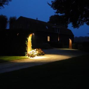 Buitenlamp Salute®, groene lamp met uitstraling!