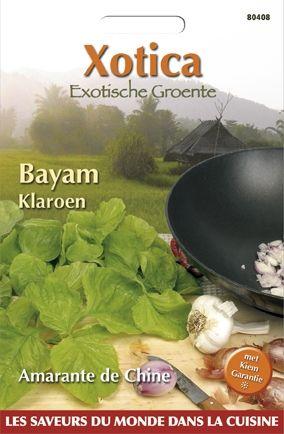 Bayam Klaroen (zaad Amarabthus dubius, Chinese Spinazie)