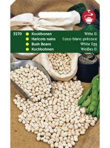 Droogboon Witte Eiboon (Witte stamboon, 100 gram)