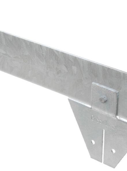 Staal 100/4VS metalen Kantopsluitingssysteem (2 Pakketten totaal 20 lengtemeter en 21 Funderingsschoenen Standaard)