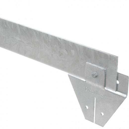 Staal 100/4VS metalen Kantopsluitingssysteem (5 Pakketten totaal 50 lengtemeter en 51 Funderingsschoenen Standaard)