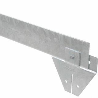 Staal 100/4VS metalen Kantopsluitingssysteem (6 Pakketten totaal 60 lengtemeter en 61 Funderingsschoenen Standaard)