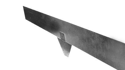 Staal 150/4VS metalen Kantopsluitingssysteem (1 Pakket totaal 10 lengtemeter en 11 Funderingsschoenen Standaard)