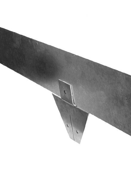 Staal 150/4VS metalen Kantopsluitingssysteem (5 Pakketten totaal 50 lengtemeter en 51 Funderingsschoenen Standaard)