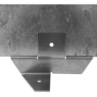 Staal 100/4VD metalen Kantopsluitingssysteem (1 Pakket totaal 10 lengtemeter en 11 Funderingsschoenen Daktuin)