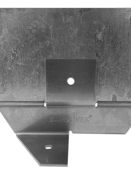 Staal 100/4VD metalen Kantopsluitingssysteem (3 Pakketten totaal 30 lengtemeter en 31 Funderingsschoenen Daktuin)