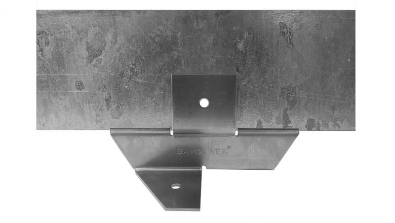 Staal 100/4VD metalen Kantopsluitingssysteem (7 Pakketten totaal 70 lengtemeter en 71 Funderingsschoenen Daktuin)