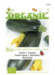 Courgette Black Beauty (biologisch zaad)