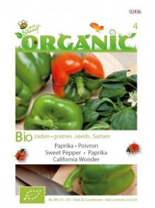 Paprika California Wonder (biologisch geteelde paprika zaad)