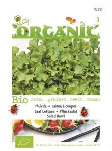 Pluksla Green Salad Bowl (biologisch geteelde sla zaad)