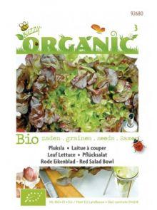 Pluksla Red Salad Bowl (Rode eikenblad sla, biologisch geteeld sla zaad)