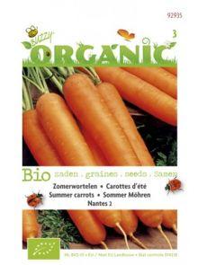 Zomerwortelen Nantes 2 (biologisch geteelde zoete wortelen zaad)