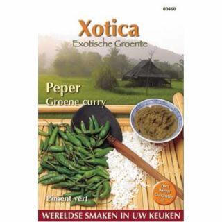 Peper Groene Curry – Cabai (zaden van groene pepers)