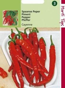 Spaanse Peper Cayenne (zaad rode peper)