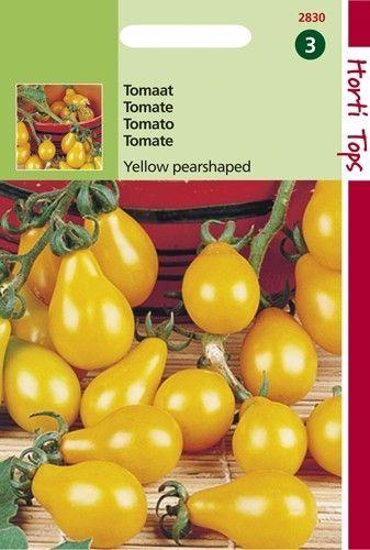 Tomaat Yellow Pearshaped (Glele tomaten, zaad)