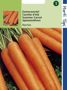 Wortelen Nantes halflange (zaad zomerwortel)