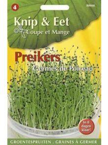 Knip & Eet Prei kers (zaad groentespruiten preikers)