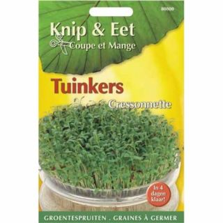 Knip & Eet Tuinkers (zaad kiemspruiten tuinkers)